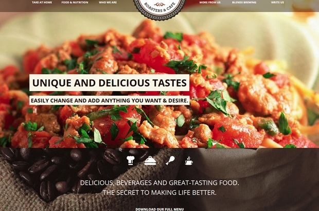 Restaurant Cafe Responsive WordPress Themes