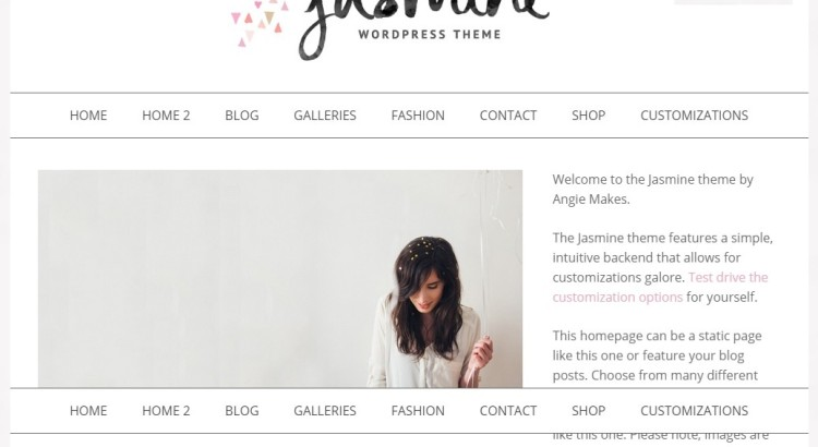 Jasmine-Feminine-Wordpress-Theme