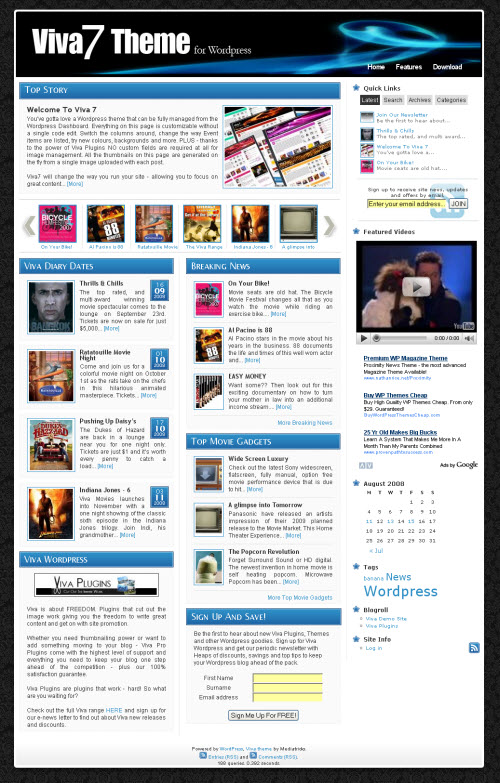 Viva7 Magazine WordPress Theme