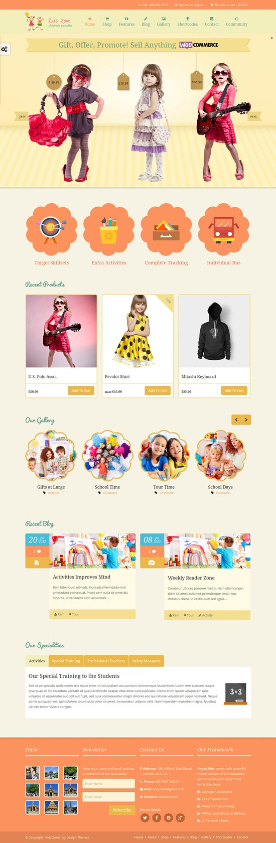 KidsZone Presponsive Children WordPress Theme