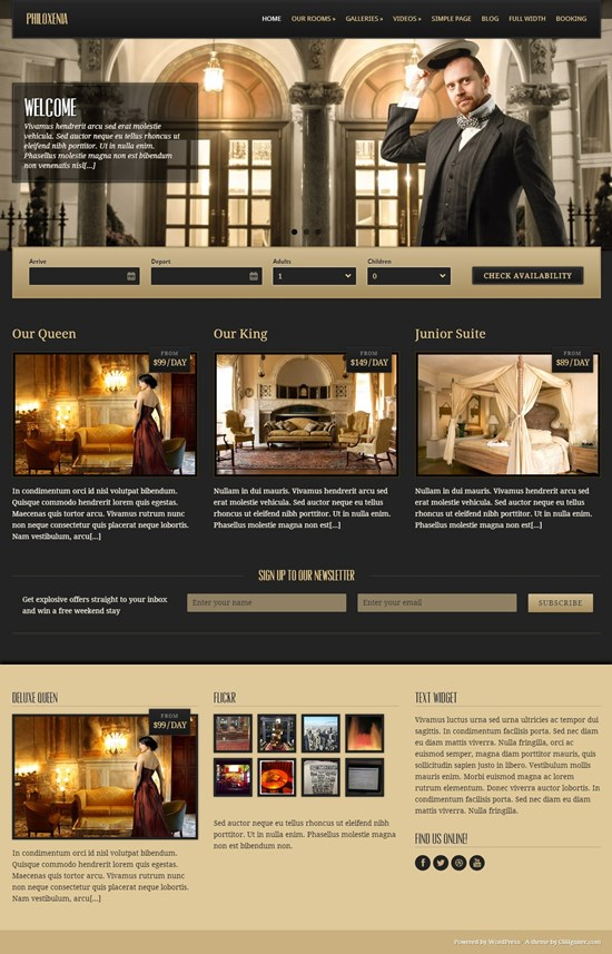 Philoxenia - Responsive Hotel WordPress Theme