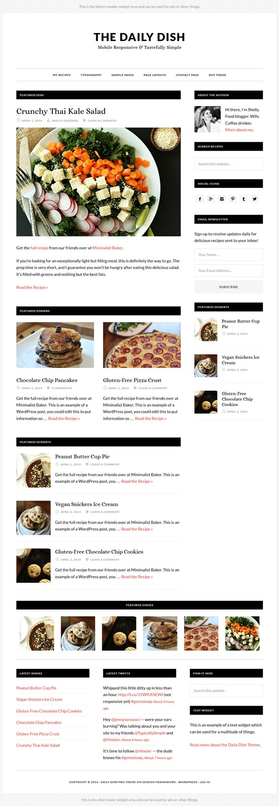 Daily Dish - Food Blogging WordPress Theme