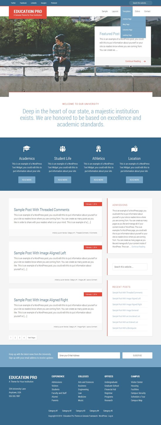 Education Pro WordPress Theme for Schools