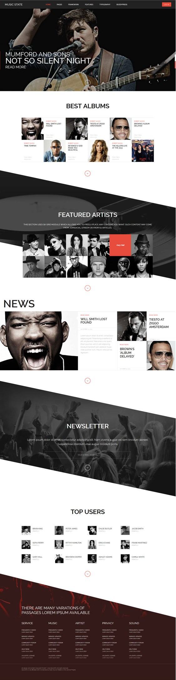 Music State - BuddyPress WordPress Theme