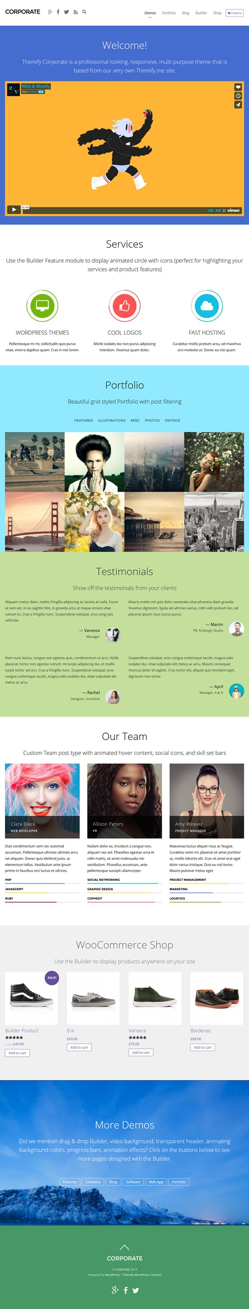 Professional Corporate WordPress Theme