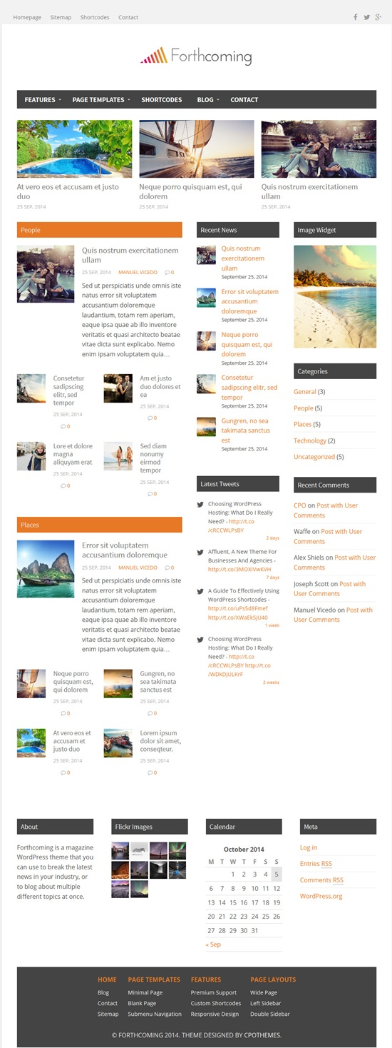 Forthcoming - Magazine Blog WordPress Theme