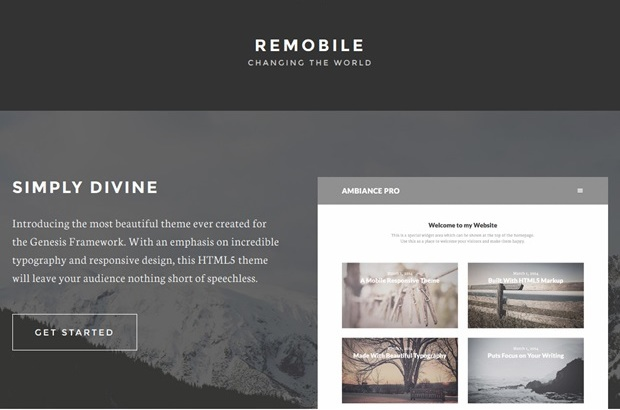 Remobile Mobile Responsive Wordpress Theme