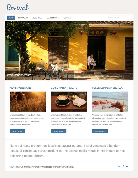 WordPress Theme for Small Business