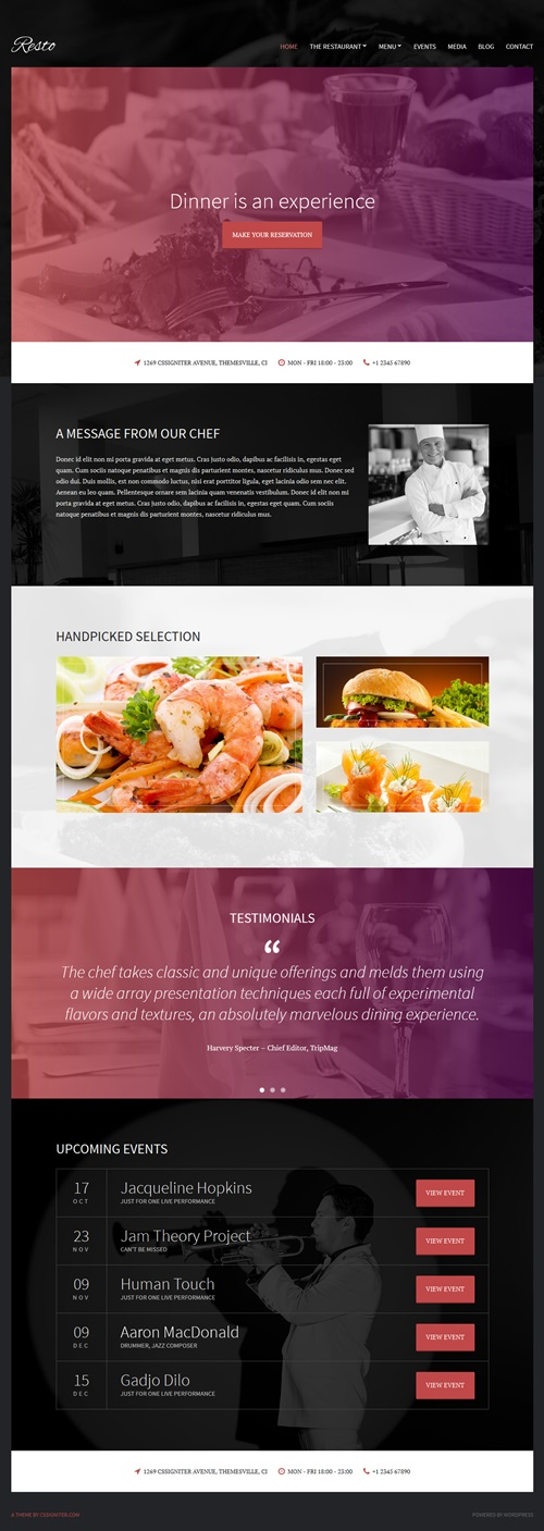 Resto - WordPress Theme for Restaurant and Bar