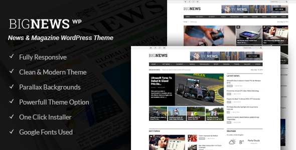 BigNews - News & Magazine WordPress Theme - Blog / Magazine WordPress