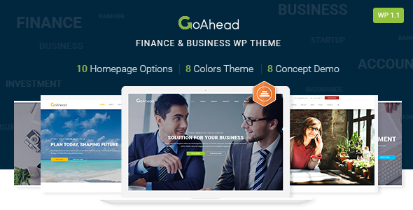 GoAhead – Finance & Business WordPress Theme - Business Corporate