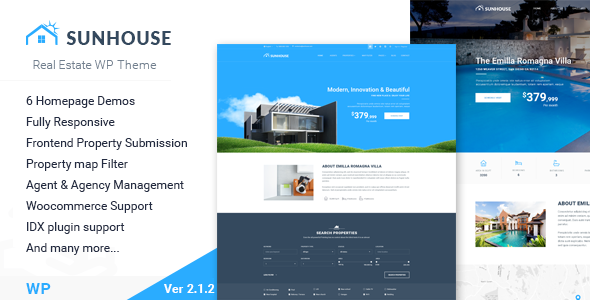 SunHouse - Multiconcept Real Estate WordPress Theme - Real Estate WordPress