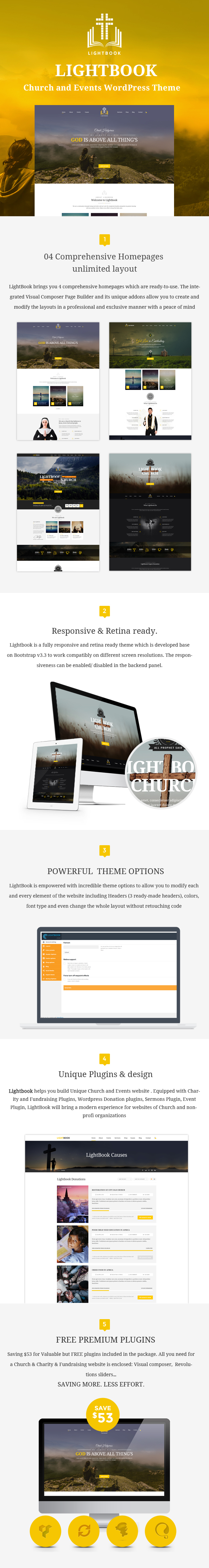 LightBook  WordPress theme