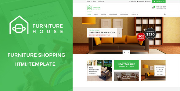 Furniture House U2013 ECommerce Shop HTML Template  Http://themeforest.net/category/site Templates/retail/shopping