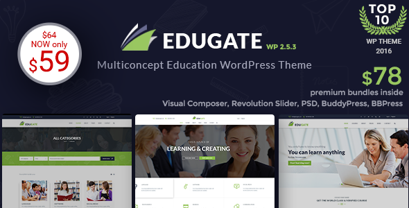 EduGate - Multiconcept Education WordPress Theme - Education WordPress