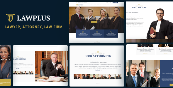 LawPlus - Lawyer, Attorney, Law Firm WordPress Theme - Business Corporate