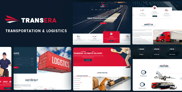 Transera – Transportation & Logistics WordPress Theme - Business Corporate