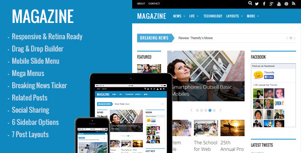 Magazine – Responsive 3-Column WordPress Theme | Premium Wordpress ...