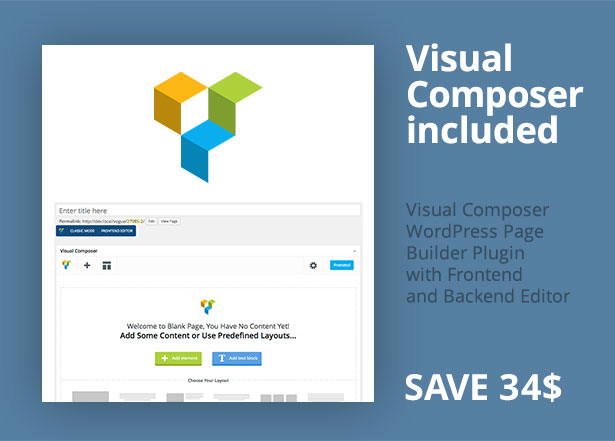 Visual Composer Included